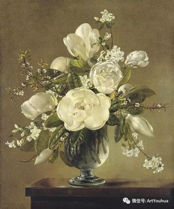 花卉油画 英国画家Cecil Kennedy插图39