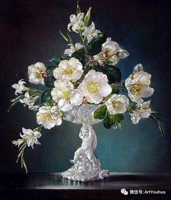 花卉油画 英国画家Cecil Kennedy插图41