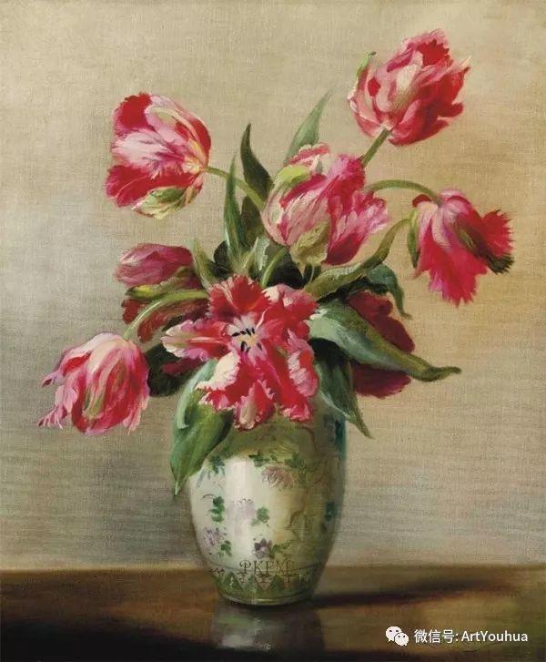 花卉油画 英国画家Cecil Kennedy插图45