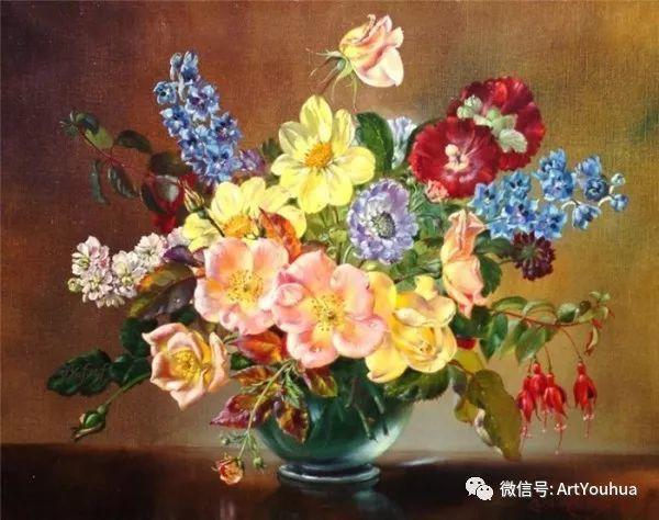 花卉油画 英国画家Cecil Kennedy插图47