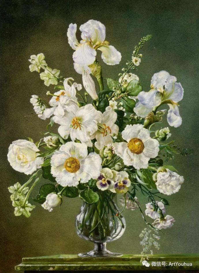 花卉油画 英国画家Cecil Kennedy插图53