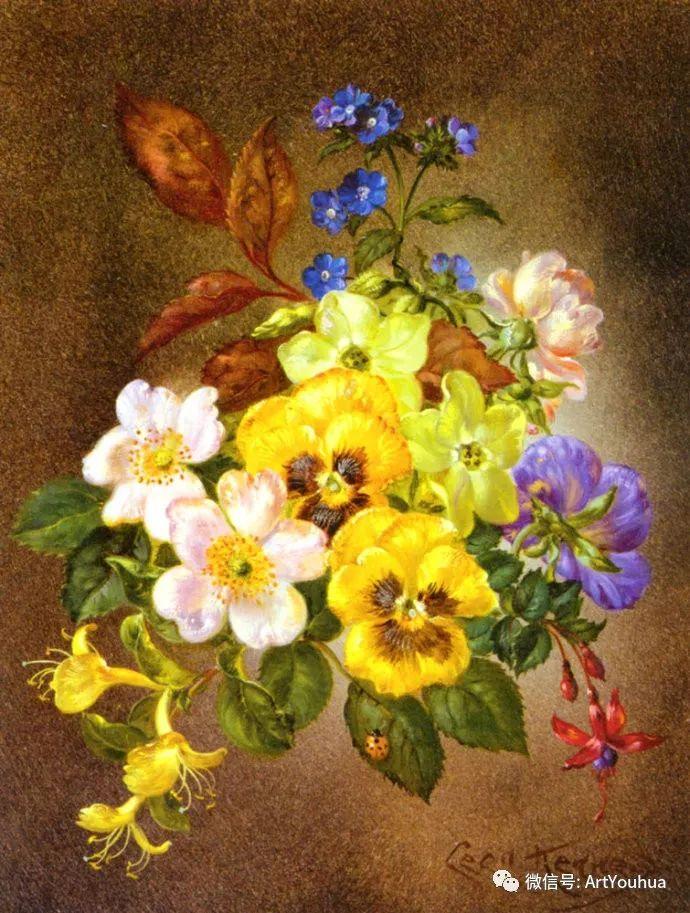 花卉油画 英国画家Cecil Kennedy插图55