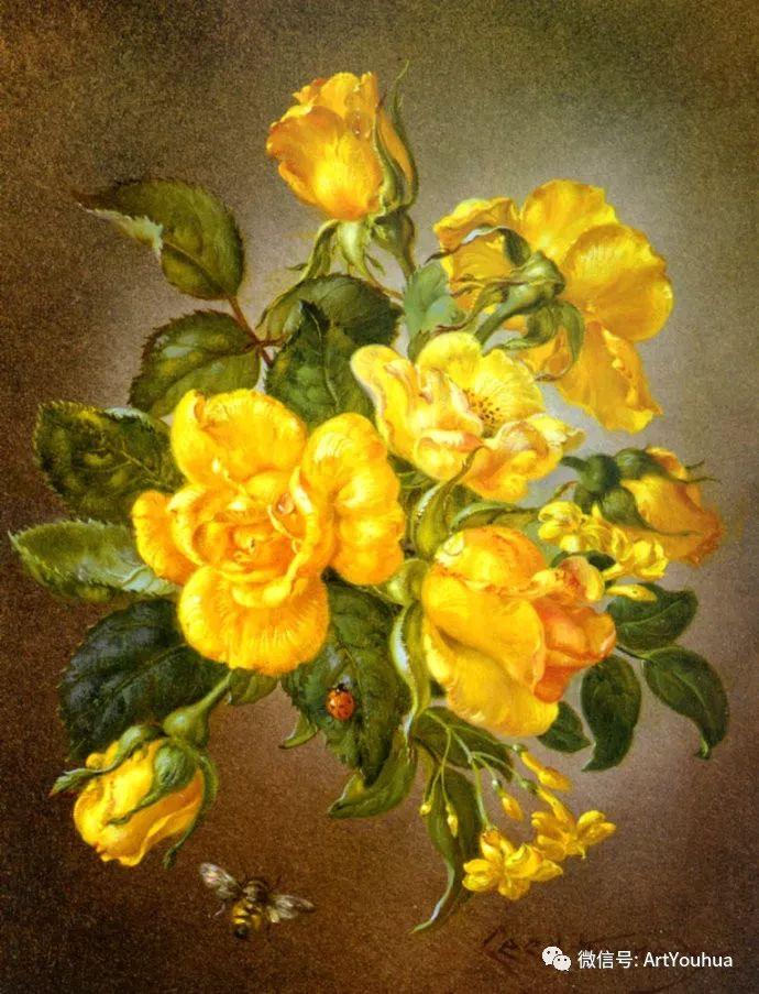 花卉油画 英国画家Cecil Kennedy插图63