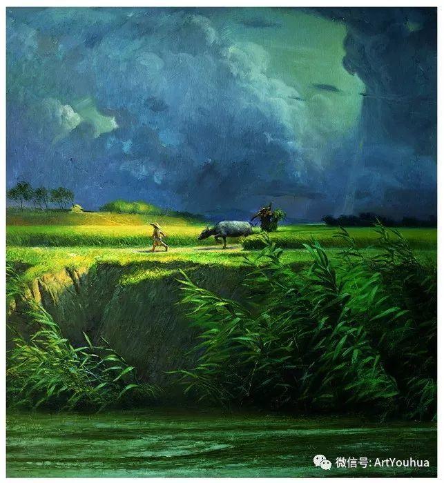周瑞文风景油画作品欣赏插图1