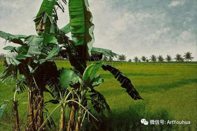 田园山村风景油画欣赏 台湾画家黄铭昌插图5
