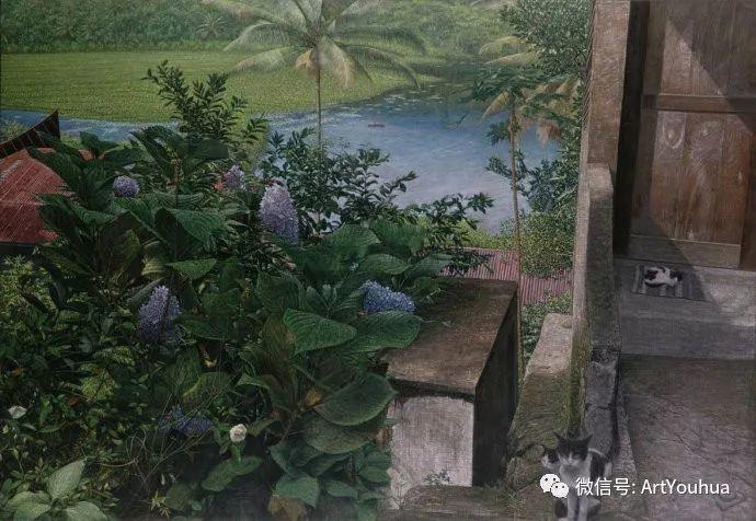 田园山村风景油画欣赏 台湾画家黄铭昌插图7