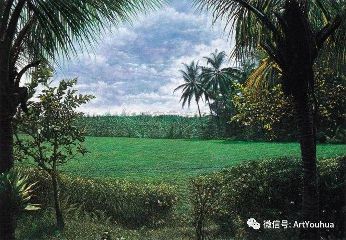 田园山村风景油画欣赏 台湾画家黄铭昌插图11