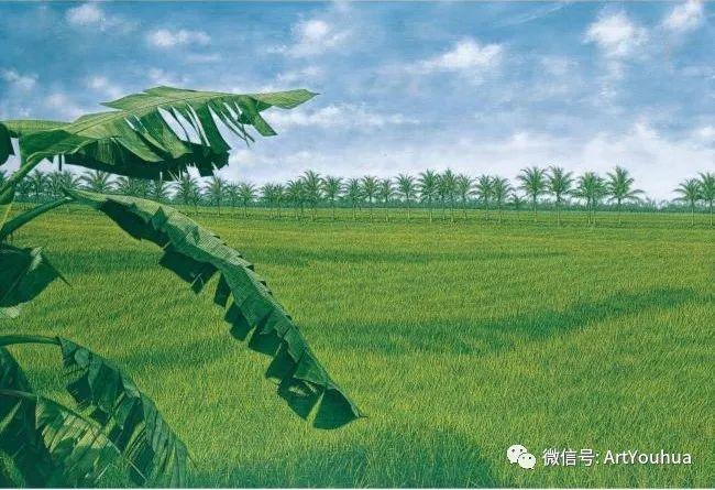 田园山村风景油画欣赏 台湾画家黄铭昌插图19