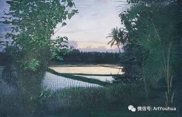 田园山村风景油画欣赏 台湾画家黄铭昌插图25