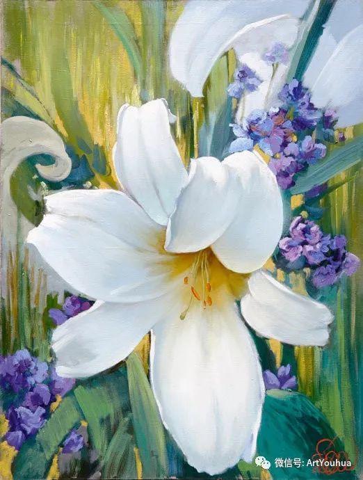 花卉油画作品 俄罗斯艺术家Anton Gortsevich插图1