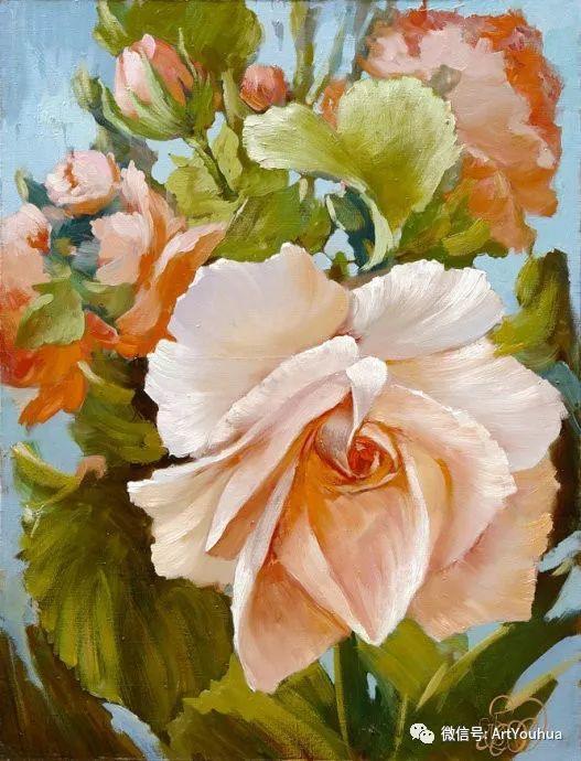 花卉油画作品 俄罗斯艺术家Anton Gortsevich插图3