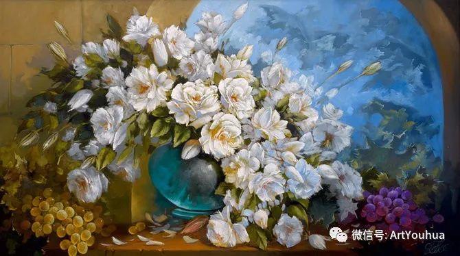 花卉油画作品 俄罗斯艺术家Anton Gortsevich插图7