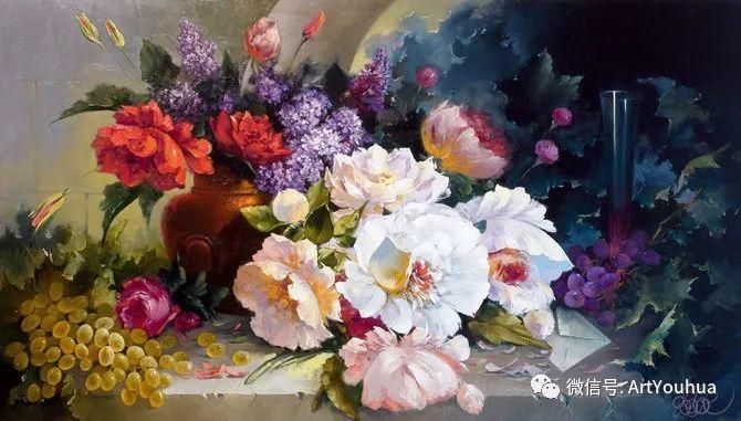 花卉油画作品 俄罗斯艺术家Anton Gortsevich插图11