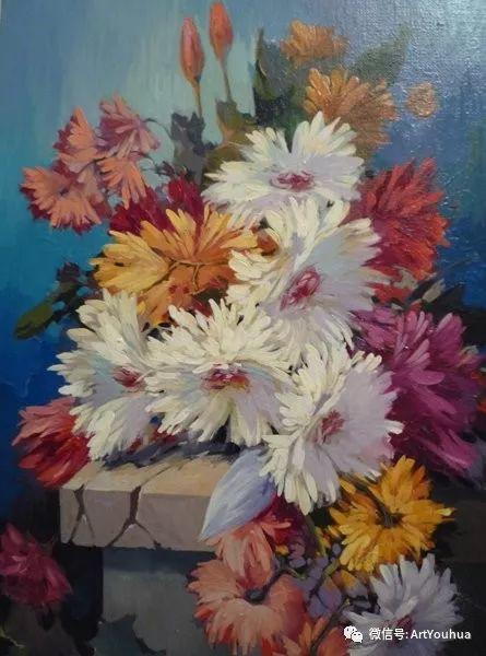 花卉油画作品 俄罗斯艺术家Anton Gortsevich插图15