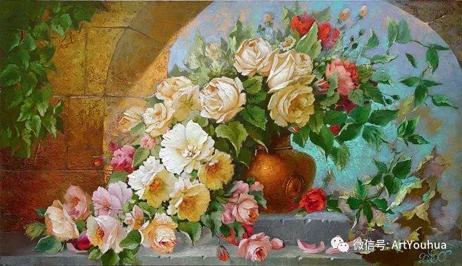 花卉油画作品 俄罗斯艺术家Anton Gortsevich插图17