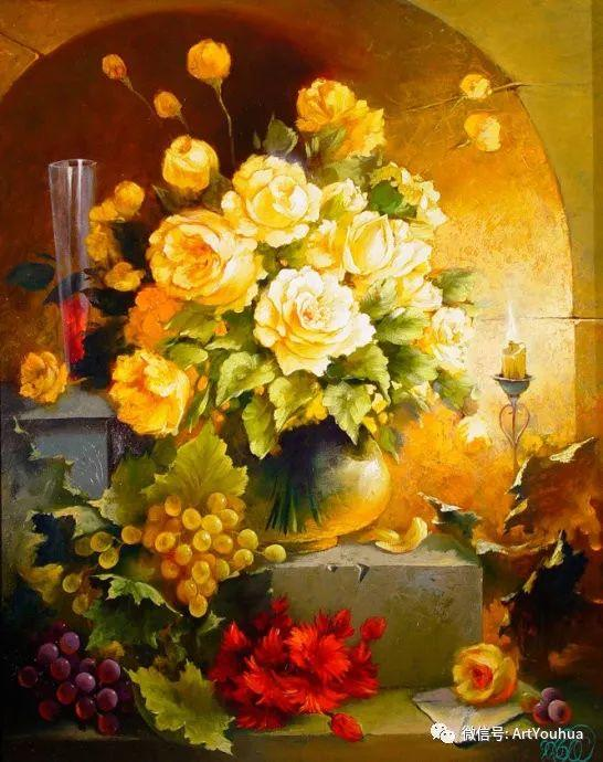 花卉油画作品 俄罗斯艺术家Anton Gortsevich插图19