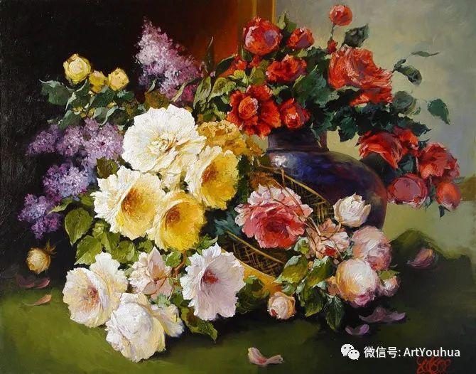 花卉油画作品 俄罗斯艺术家Anton Gortsevich插图21