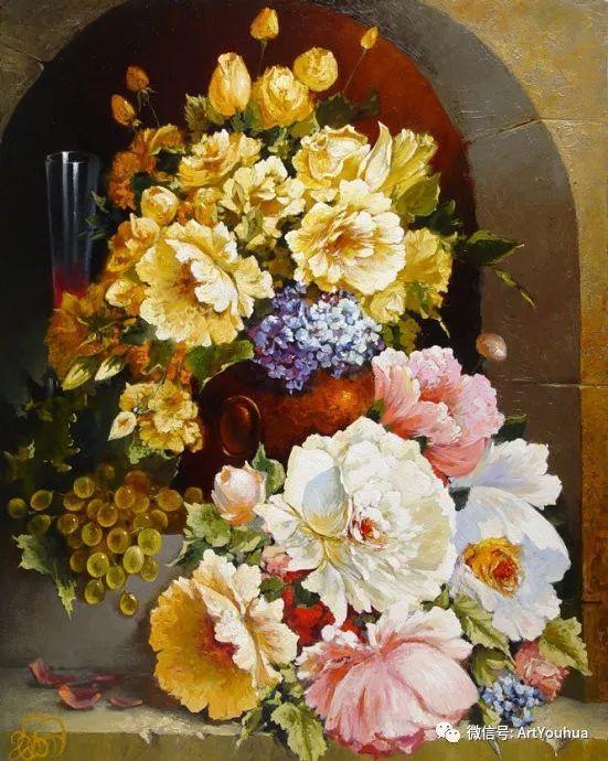 花卉油画作品 俄罗斯艺术家Anton Gortsevich插图25