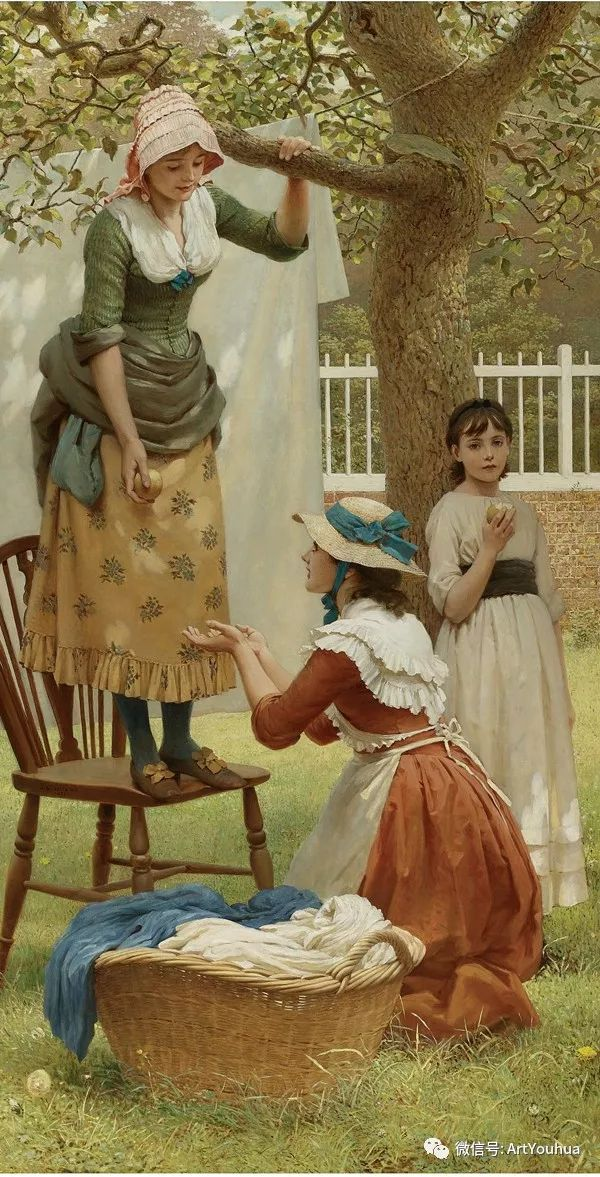 人物 英国George Dunlop Leslie油画作品插图