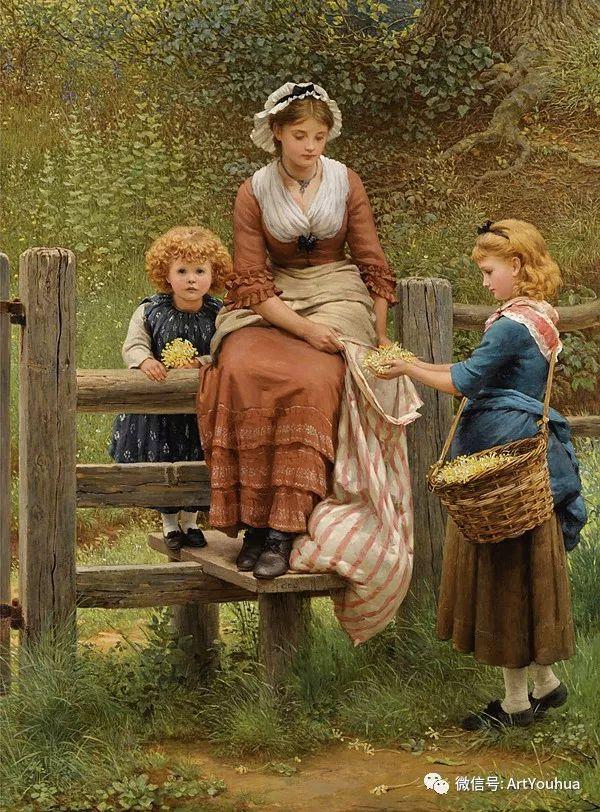 人物 英国George Dunlop Leslie油画作品插图1