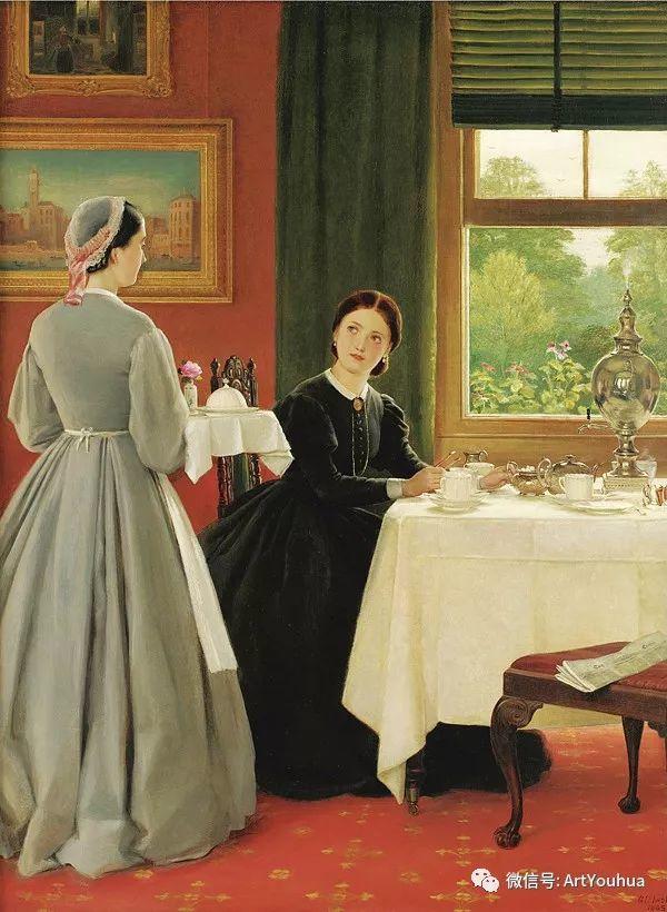 人物 英国George Dunlop Leslie油画作品插图3
