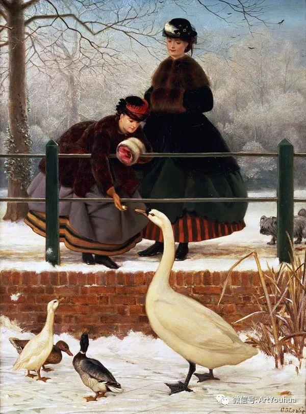 人物 英国George Dunlop Leslie油画作品插图5