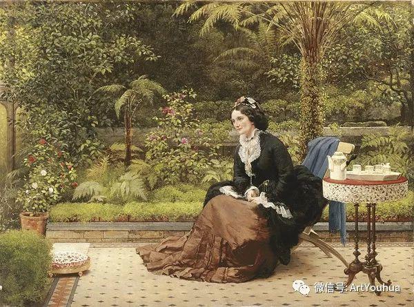 人物 英国George Dunlop Leslie油画作品插图6