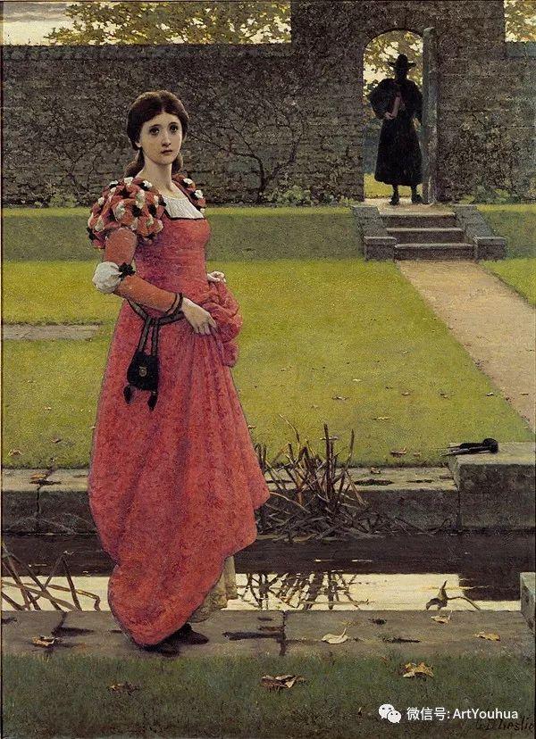 人物 英国George Dunlop Leslie油画作品插图9