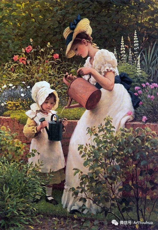 人物 英国George Dunlop Leslie油画作品插图12