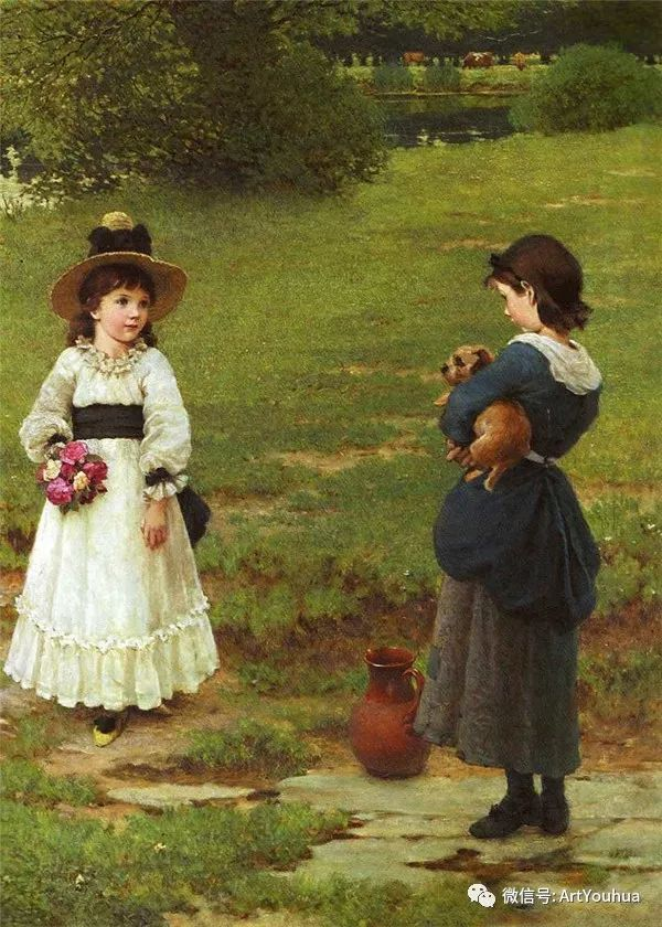 人物 英国George Dunlop Leslie油画作品插图16