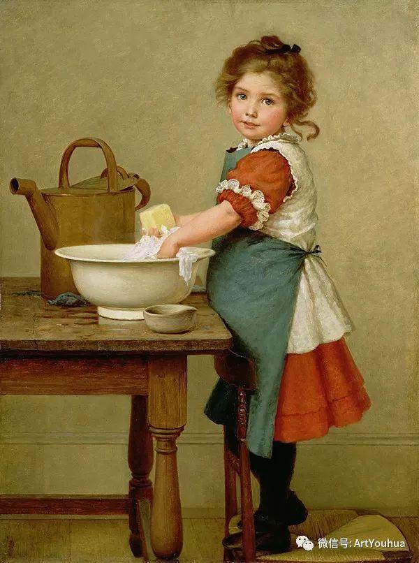 人物 英国George Dunlop Leslie油画作品插图17
