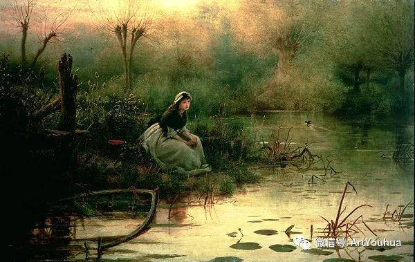 人物 英国George Dunlop Leslie油画作品插图18