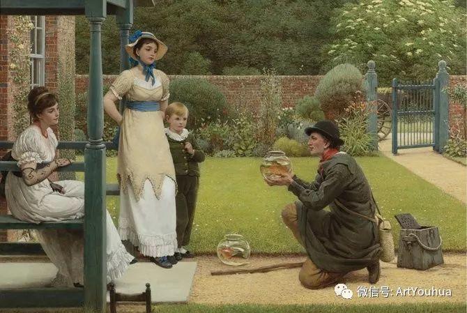 人物 英国George Dunlop Leslie油画作品插图23