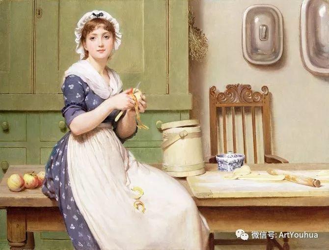 人物 英国George Dunlop Leslie油画作品插图24