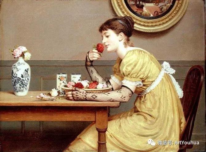 人物 英国George Dunlop Leslie油画作品插图26