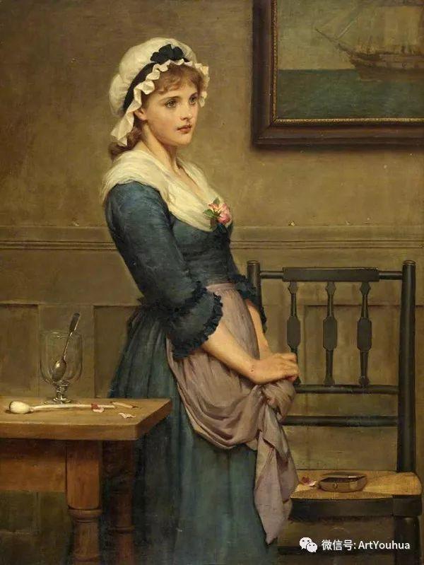 人物 英国George Dunlop Leslie油画作品插图28
