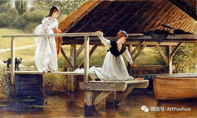 人物 英国George Dunlop Leslie油画作品插图30