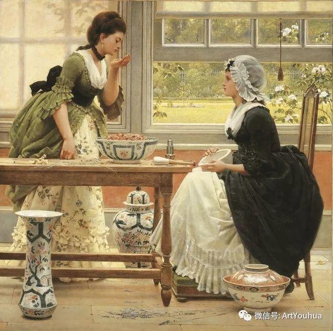 人物 英国George Dunlop Leslie油画作品插图31