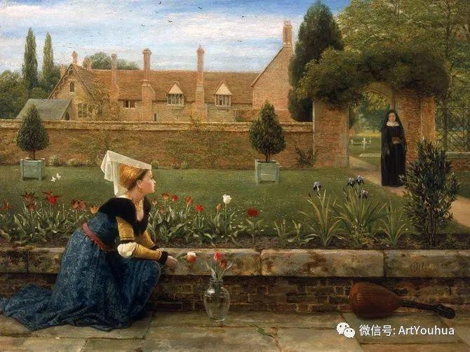 人物 英国George Dunlop Leslie油画作品插图33