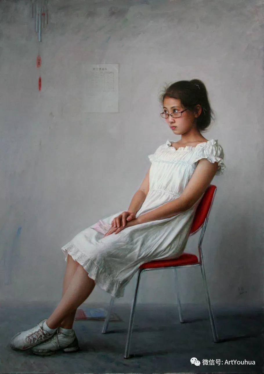 女画家安静油画人物欣赏插图21