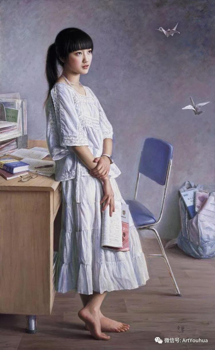女画家安静油画人物欣赏插图39