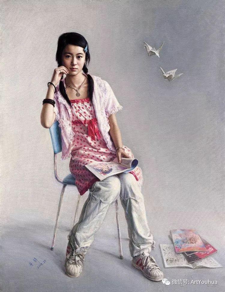 女画家安静油画人物欣赏插图45