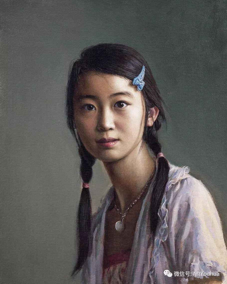 女画家安静油画人物欣赏插图87