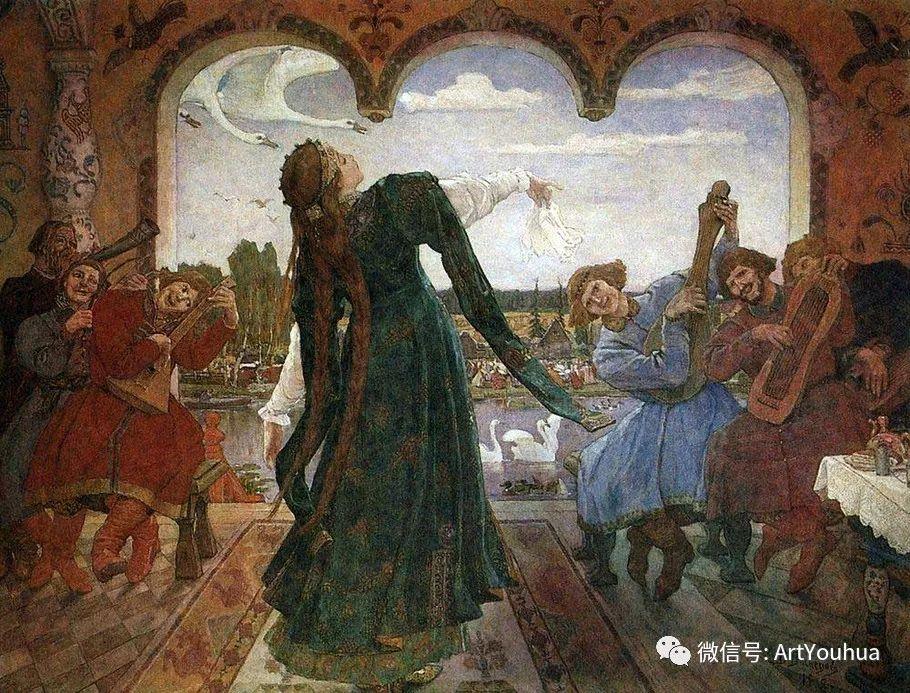 历史和神话题材油画 俄罗斯Viktor Mikhailovich Vasnetsov插图29