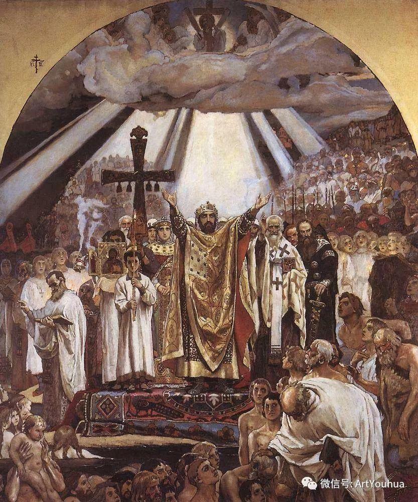 历史和神话题材油画 俄罗斯Viktor Mikhailovich Vasnetsov插图81
