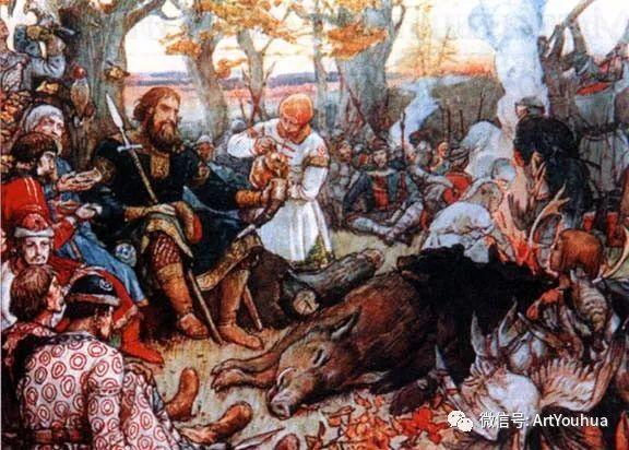 历史和神话题材油画 俄罗斯Viktor Mikhailovich Vasnetsov插图89