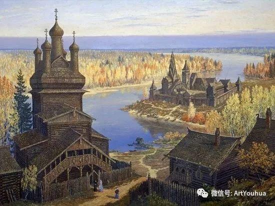 民俗场景和神话绘画 俄罗斯Vsevolod Ivanov作品插图5