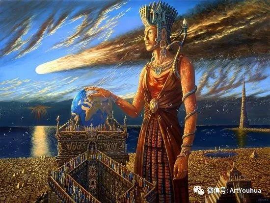 民俗场景和神话绘画 俄罗斯Vsevolod Ivanov作品插图7