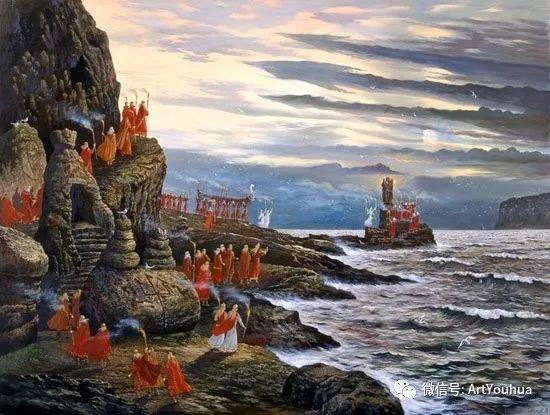 民俗场景和神话绘画 俄罗斯Vsevolod Ivanov作品插图13