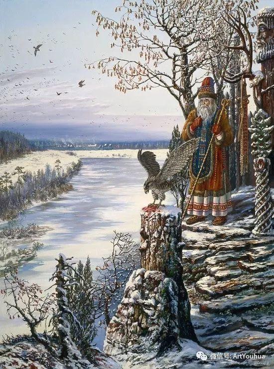 民俗场景和神话绘画 俄罗斯Vsevolod Ivanov作品插图15